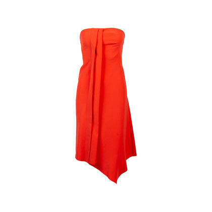 Authentic Second Hand Cedric Charlier Asymmetrical Strapless Dress (PSS-054-00280)