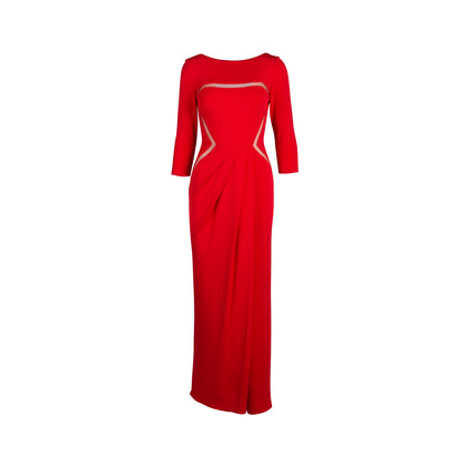 Authentic Second Hand Elie Saab Mesh Cut Out Gown (PSS-054-00323)