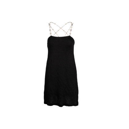 Authentic Second Hand Coviello and Erickson Crystal Embellished Back Dress (PSS-045-00086)