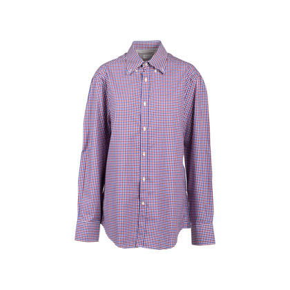 Authentic Second Hand Brunello Cucinelli Slim Fit Checked Shirt (PSS-517-00048)