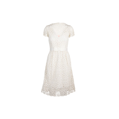 Authentic Second Hand Collette By Collette Dinnigan Belted Lace Dress (PSS-583-00022)