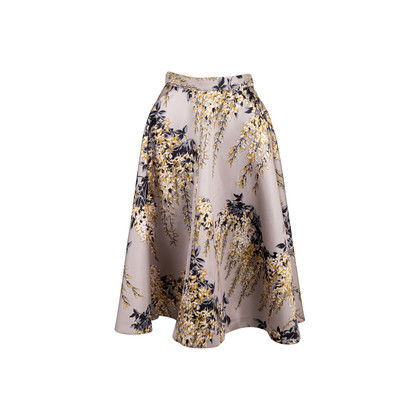 Authentic Second Hand Rochas Floral Print Full Skirt (PSS-054-00392)