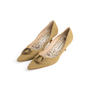 Authentic Second Hand Manolo Blahnik Canvas Pointed Pumps (PSS-054-00435) - Thumbnail 2