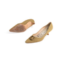 Authentic Second Hand Manolo Blahnik Canvas Pointed Pumps (PSS-054-00435) - Thumbnail 4