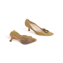 Authentic Second Hand Manolo Blahnik Canvas Pointed Pumps (PSS-054-00435) - Thumbnail 5