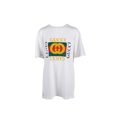 Authentic Second Hand Gucci Cruise 2017 Tiger Logo T-Shirt (PSS-860-00045)