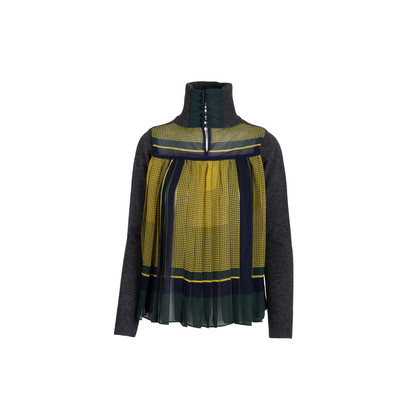 Authentic Second Hand Sacai Turtleneck Sweater with Pleated Back (PSS-054-00478)