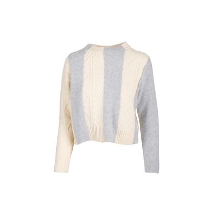 Authentic Second Hand Sacai Luck Cable Knit Sweater (PSS-054-00481)