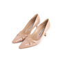 Authentic Second Hand Manolo Blahnik Nude Patent Pumps (PSS-054-00491) - Thumbnail 2