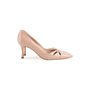 Authentic Second Hand Manolo Blahnik Nude Patent Pumps (PSS-054-00491) - Thumbnail 1