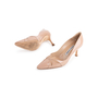 Authentic Second Hand Manolo Blahnik Nude Patent Pumps (PSS-054-00491) - Thumbnail 4