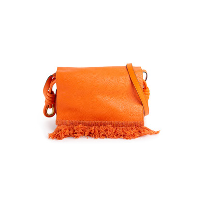 Authentic Second Hand Loewe 2017 Spring Flamenco Fringe Flap Bag (PSS-891-00013)