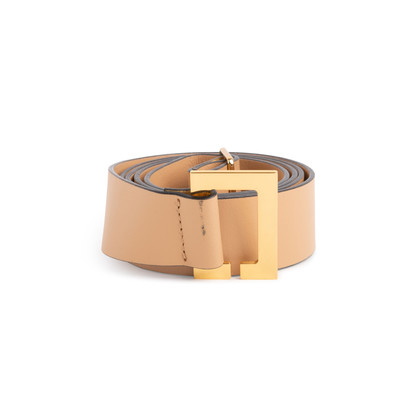 Authentic Second Hand Marni Carbone Leather Belt (PSS-891-00014)