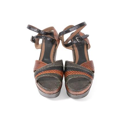 Authentic Second Hand Marni Snakeskin Platform Sandals (PSS-895-00003)