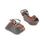 Authentic Second Hand Marni Snakeskin Platform Sandals (PSS-895-00003) - Thumbnail 5