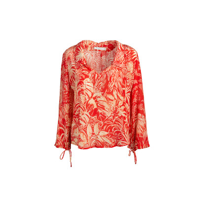 Authentic Second Hand Rixo Printed De Chine Blouse (PSS-466-00054)