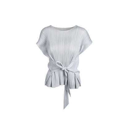 Authentic Second Hand Pleats Please Tie Back Sleeveless Top (PSS-466-00057)