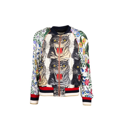 Authentic Second Hand Gucci Tiger Bomber Jacket (PSS-029-00067)