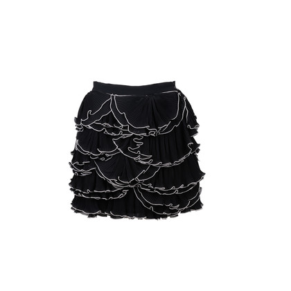 Authentic Second Hand Moschino Ruffled Mini Skirt (PSS-515-00355)