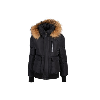 Authentic Second Hand Mackage Down Bomber Jacket with Fur Hood (PSS-515-00365)