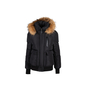 Authentic Second Hand Mackage Down Bomber Jacket with Fur Hood (PSS-515-00365) - Thumbnail 0