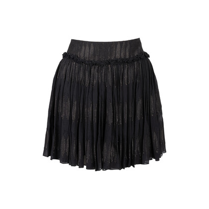 Authentic Second Hand See by Chloe Metallic Pleated Skirt (PSS-907-00005)