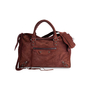 Authentic Second Hand Balenciaga Suede Motorcycle City Bag (PSS-907-00014) - Thumbnail 1