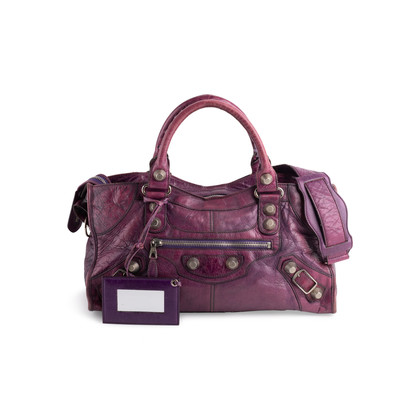 Authentic Second Hand Balenciaga Grape 2007 Motorcycle City Bag (PSS-896-00001)