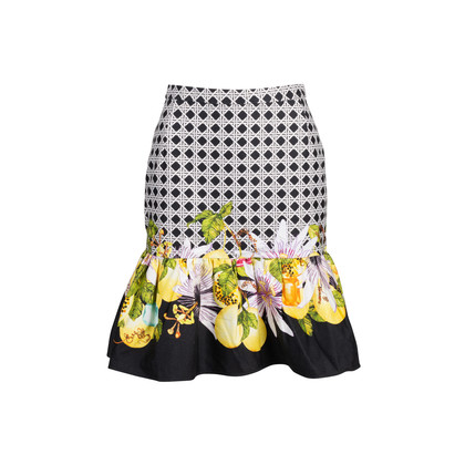 Authentic Second Hand Isolda Fluted Print Mini Skirt (PSS-340-00221)