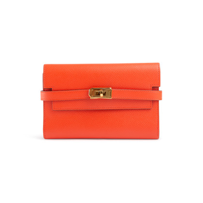 Authentic Second Hand Hermès Epsom Kelly Wallet (PSS-901-00023)