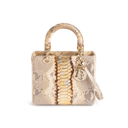Authentic Second Hand Christian Dior Python Lady Dior Bag (PSS-235-00147)