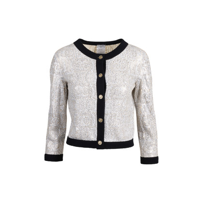Authentic Second Hand Chanel Sequin Cashmere Cardigan (PSS-575-00078)