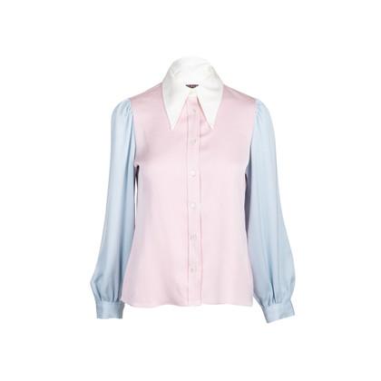 Authentic Second Hand ALEXACHUNG Colour Block Satin Shirt (PSS-235-00170)