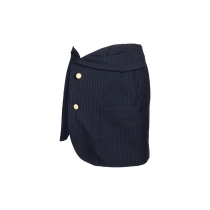 Authentic Second Hand Jacquemus Pinstripe Wool Skirt (PSS-235-00175)