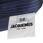 Authentic Second Hand Jacquemus Pinstripe Wool Skirt (PSS-235-00175) - Thumbnail 4