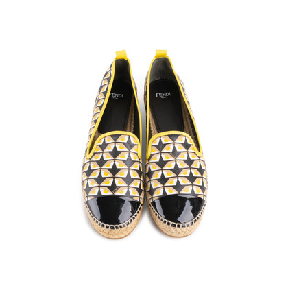 Authentic Second Hand Fendi Junia Monster-print Espadrilles (PSS-474-00015)
