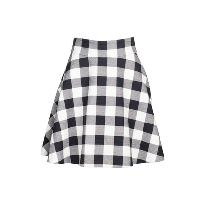 Authentic Second Hand Dolce & Gabbana Checkered A-Line Skirt (PSS-235-00174)