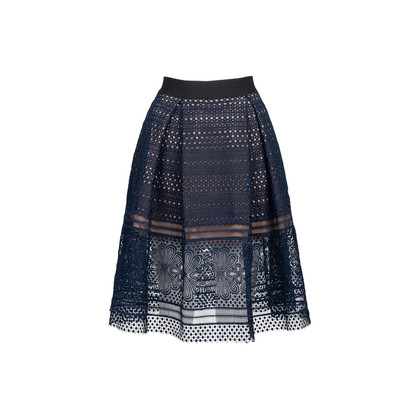 Authentic Second Hand Self-Portrait Panelled Guipure Skirt (PSS-235-00189)