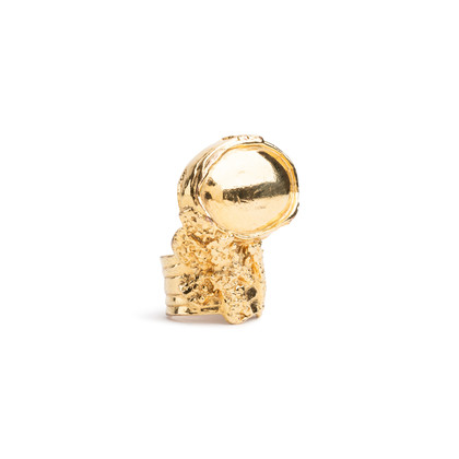 Authentic Second Hand Yves Saint Laurent Gold Arty Ring (PSS-088-00161)