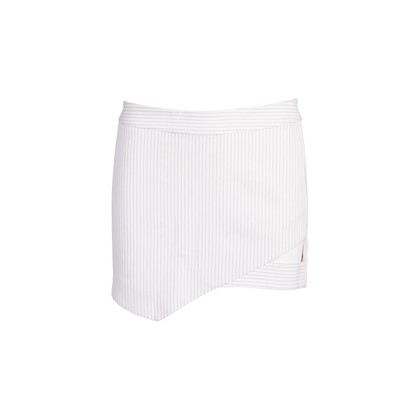 Authentic Second Hand Mason Striped Cut-out Mini Skirt (PSS-088-00205)