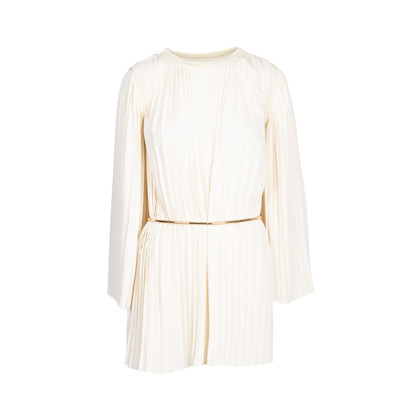 Authentic Second Hand Maison Martin Margiela Belted Pleat Dress (PSS-088-00234)