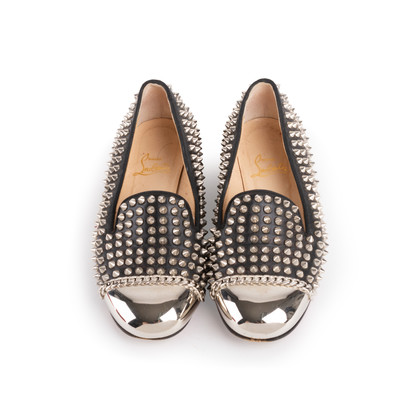 Authentic Second Hand Christian Louboutin Spike Rollergirl Flats (PSS-916-00010)