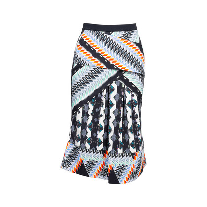 Authentic Second Hand Peter Pilotto Printed Pleated Skirt (PSS-034-00064)