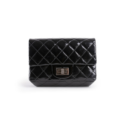 Authentic Second Hand Chanel 2.55 Patent Leather Pouch (PSS-034-00069)
