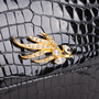 Authentic Second Hand Pierre Guijarro Embellished Crocodile Clutch (PSS-916-00046) - Thumbnail 8