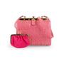 Authentic Vintage Judith Leiber Studded Lizard Box Bag (PSS-916-00057) - Thumbnail 1