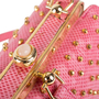 Authentic Vintage Judith Leiber Studded Lizard Box Bag (PSS-916-00057) - Thumbnail 6