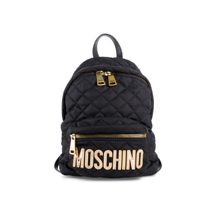 Authentic Second Hand Moschino Medium Quilted Backpack (PSS-800-00015)
