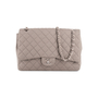Authentic Second Hand Chanel Classic Flap Jumbo Jersey (PSS-860-00075) - Thumbnail 0