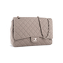 Authentic Second Hand Chanel Classic Flap Jumbo Jersey (PSS-860-00075) - Thumbnail 1